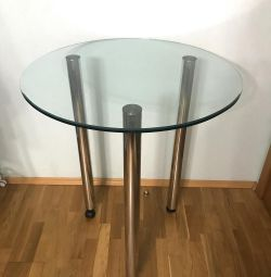 Glass bar table