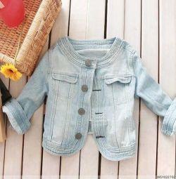 Куртка джинсовая пиджак болеро р. S
