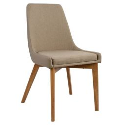 ALKMINI CHAIR HM0142.02 WITH FABRIC AND PU BEIGE