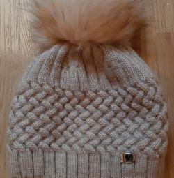 Καπέλο μαλλί νέο χειμώνα ποταμού 55-56 limasole