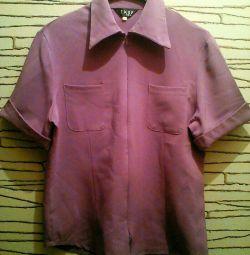 Women's blouse with zipper