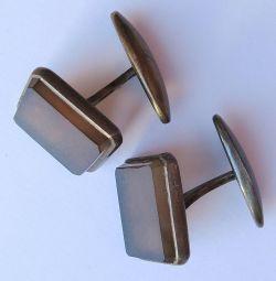 Manșoane vintage numărul 3 (argint placat cu aur)