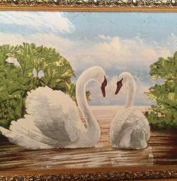Resim Goblen iki kuğu 60/80.