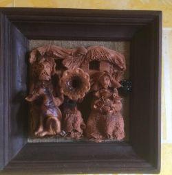 Panou (lemn, ceramică)