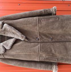 Palton de oaie vintage p50-52
