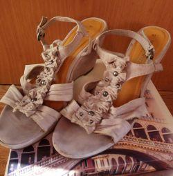 Босоножки туфли женские танкетка размер 40-41