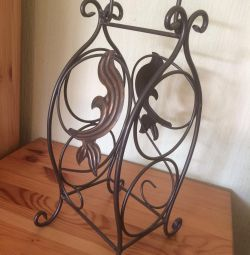 Wrought iron stand for wine