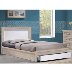 Melany Bed with 1 Drawer in Sonama White 110x19