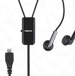 Headset (stereo) Nokia headset HS-82, new