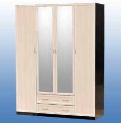 Dulap cu 4 uși 1700 mm cu oglinzi