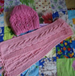 Hat + scarf for girl 5-7 years