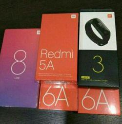 New smartphones Xiaomi Redmi, MI.