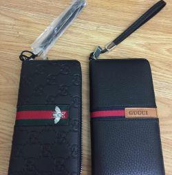 Кошелёк Два новые черно-красных кошелька gucci из