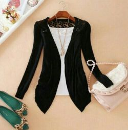 Cardigan black, new