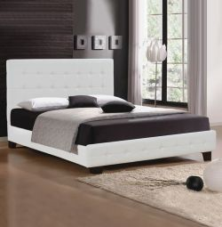 Κρεβάτι Essense με Λευκό PU 160x200