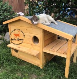 House for a cat or cat