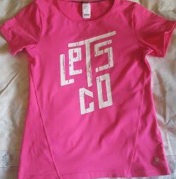 Kızların büyümesi için tişört 143-150