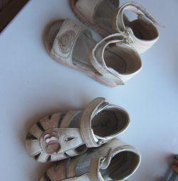 Sandale din piele 14 cm