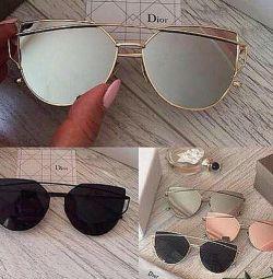 Очки солнечные прозрачные стекло