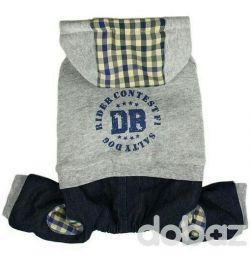 Костюм сіро-чорний DB (одяг для собак)