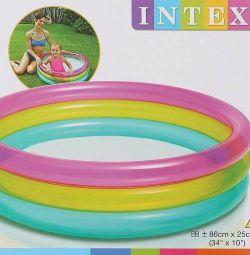 Children's pool Rainbow, 1-3 years old, 86x25 cm, 57104