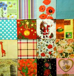 Napkins paper decoupage needlework material