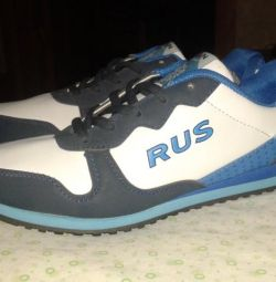 Sneakers white with blue New.