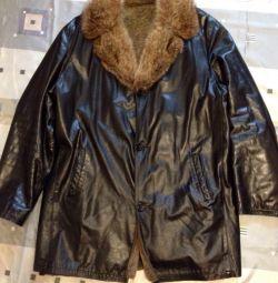 Куртка шкіряна зимова 56-58
