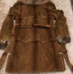 Fur coats of beaver and fox