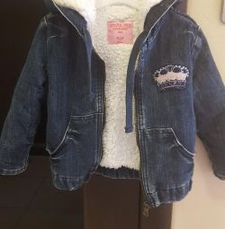 Jean jacket. Insulated. 86-92 size