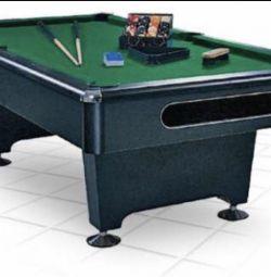 Pool table, balls