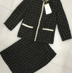 Suit with skirt, new