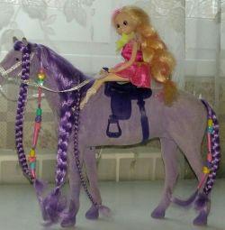 Άλογο μωβ με νεράιδα