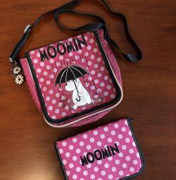 Σετ τσάντα + υπόθεση μολυβιού Moomin Erich Krause