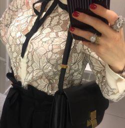 Новая блуза кружево цвета экрю hm