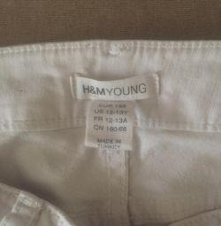 Джинси білі H & M