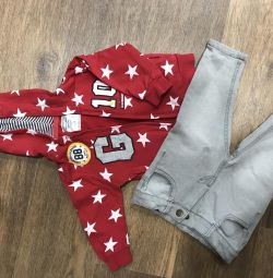 Sweatshirt and jeans for kids