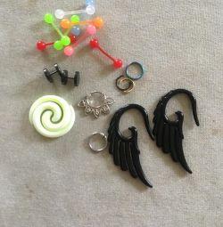 Сережки, растяжки, нострилы и др для пирсинга
