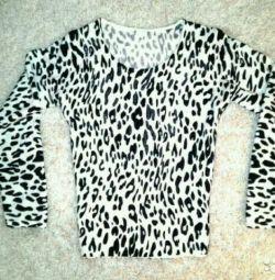 Siyah ve beyaz leopar
