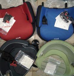 New car seat - booster 15-36 isofix, 3 pcs