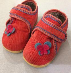 Children's warm slippers, 12cm insole