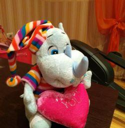 Soft rinocer de jucărie