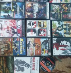 Playstation 2 discs in assortment