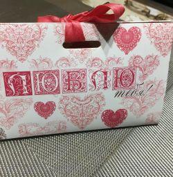 Подарочный пакет люблю тебя