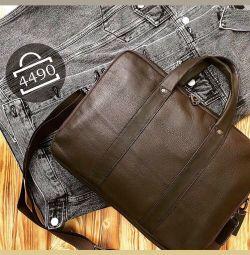 Мужская сумка с двумя отделами