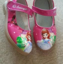 Shoes for a girl with Princess Sophia