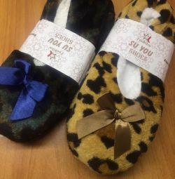 Soft warm slippers