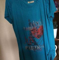 T-shirt επιμήκη ιταλική βαμβάκι