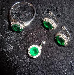Set de bijuterii din argint Sokolov