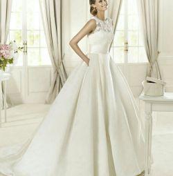 Свадебное платье атласное Pronivias Dalia